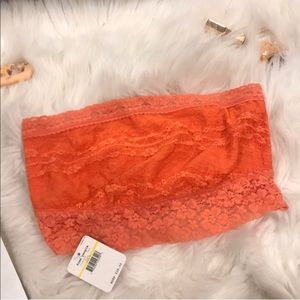Free People Coral Bandeau Lace Bralette M NWT✨